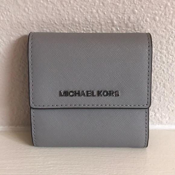michael kors bags wallet ash grey poshmark rh poshmark com